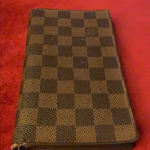 Louis Vuitton used check book